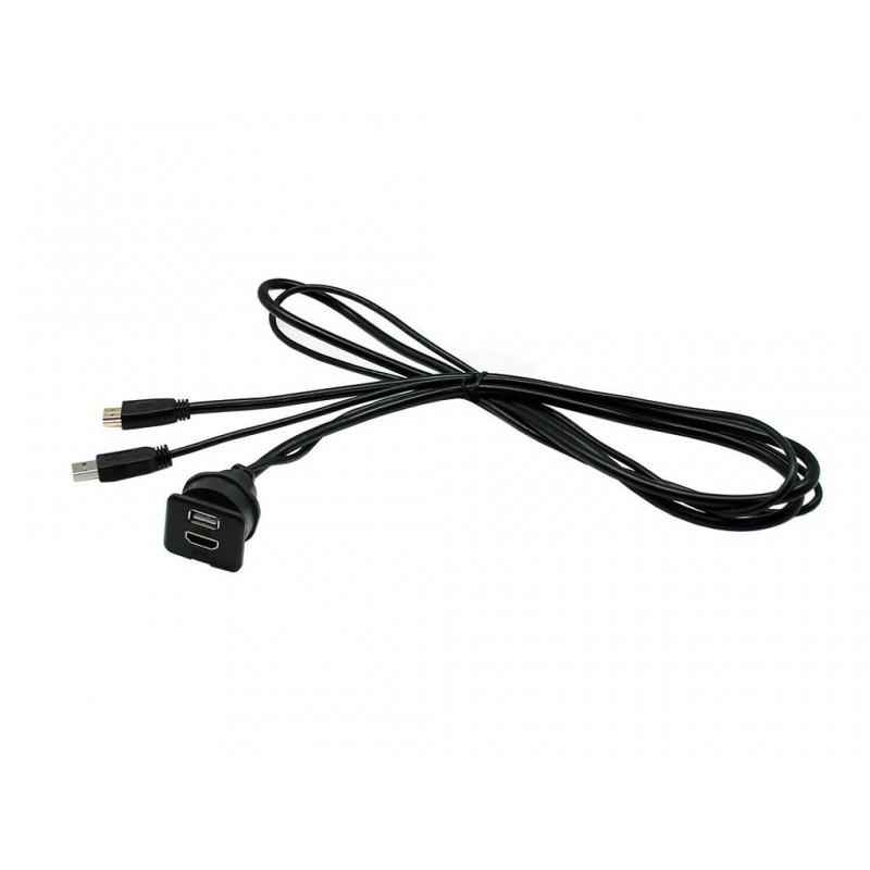cable prolongador hdmi    usb 1 5 mts