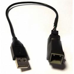 Mantene USB original al cambiar el estereo Toyota y Subaru
