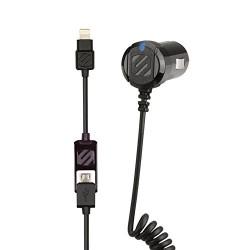 Cargador con cable Lightning y puerto USB Scosche