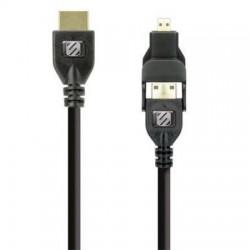 Cable HDMI a micro / mini hdmi de 1,82m para conexión con smartphones