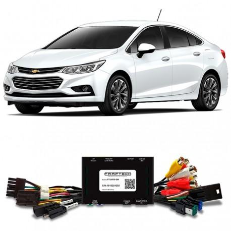 Interface video desbloqueo + entradas AV + salida pantallas Chevrolet Cruze ft-lvds-gm
