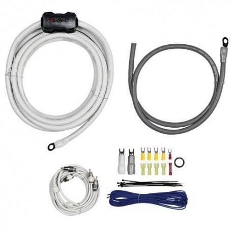 Kit cables conexion T-Spec Amplificador 2100W con cables RCA V10-RA