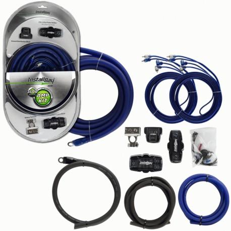 Kit cables conexion InstalBay Amplificador 3600W con cables RCA AK01