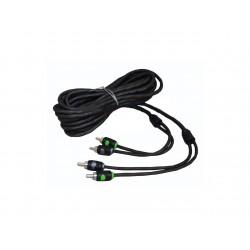 Cable RCA de dos canales 5,16 mts Raptor R5RCA17