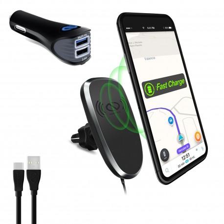 Soporte Magnetico y cargador wireless iphone celular 14533