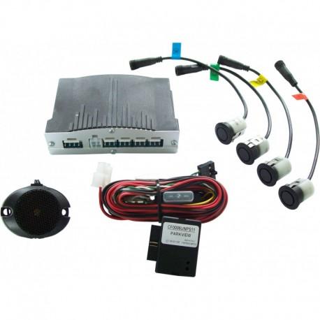 Interface gráfica del sensor de estacionamiento (Delantero+Trasero)
